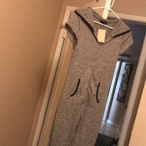 So sexy hooded jumpsuit